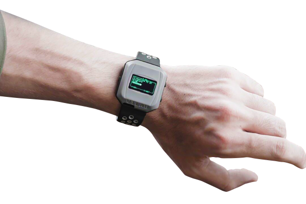 Man wearing the medical smartwatch